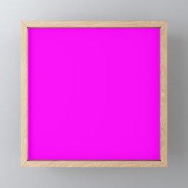 Pink neon color bright summer Framed Mini Art Print