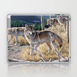 Wolf in winter forest Laptop & iPad Skin
