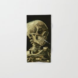 Skull of a Skeleton with Burning Cigarette by Vincent van Gogh Hand & Bath Towel