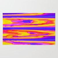 tie dye Area & Throw Rugs featuring Tie Dye Sky by Vikki Salmela