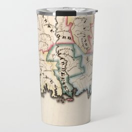 Vintage Map of Connecticut (1819) Travel Mug
