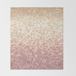 Champagne Gold Blush Pink Glittery Ombre Pattern #society6 Throw Blanket