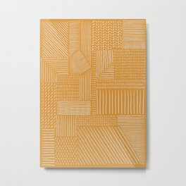 Mud Cloth / Yellow Metal Print