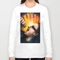 u2 Long Sleeve T-shirts featuring Bono from U2 by Storm Media