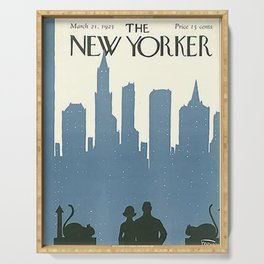 Vintage New Yorker Cover - Circa 1925 Serving Tray