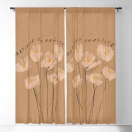 Gratitude Is A Practice Blackout Curtain
