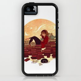 Book Lover Girl iPhone Case