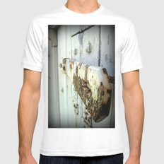 Latch (Macro) Mens Fitted Tee SMALL White