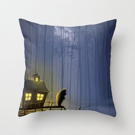 Company Whilst Fishing Throw Pillow