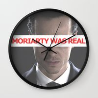 moriarty Wall Clocks featuring Moriarty Was Real / Moriarty / IV by Earl of Grey