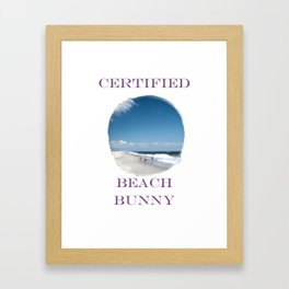 Certified Beach Bunny Framed Art Print