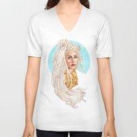 versace V-neck T-shirts featuring Versace Venus by Helen Green
