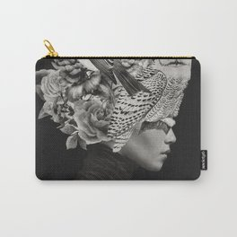 Lady with Birds(portrait) Carry-All Pouch