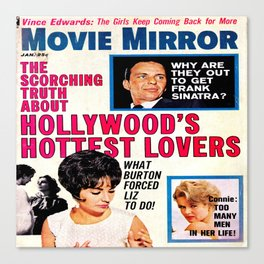 Vintage Movie Mirror Magazine 1963 Canvas Print