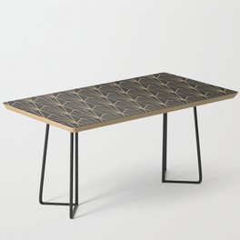 Art Deco Vector in Charcoal and Gold Coffee Table