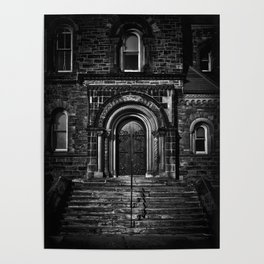 University College East Entrance Toronto Canada Poster