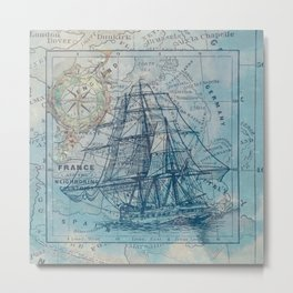 Clipper Ship Metal Print
