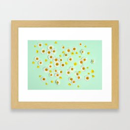 Composition of daisies and buttercups Framed Art Print