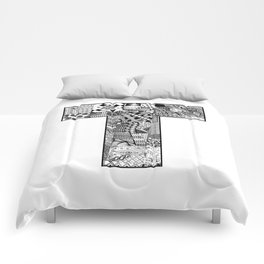 Cutout Letter T Comforters