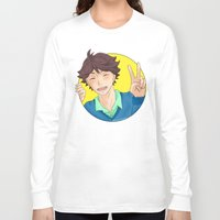 haikyuu Long Sleeve T-shirts featuring Oikawa Tooru - Haikyuu!! - circle peace sign by anywayimnikki