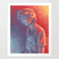 nico di angelo Art Prints featuring Nico by Monsie