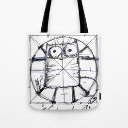 Kot da Vinci (black and whie) Tote Bag