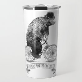 Bears on Bicycles (Lime) Travel Mug