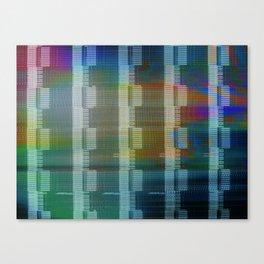 Analogue Glitch Rainbow Blocks Canvas Print