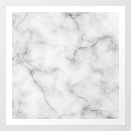 Real Marble Art Print