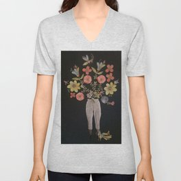 Also Flowers Growing In All The Wrong Places Unisex V-Neck