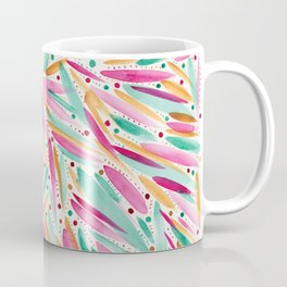 Summer Vibes in stripes and dots Coffee Mug