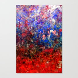 Abstract Art in Red Sunset Palette Canvas Print