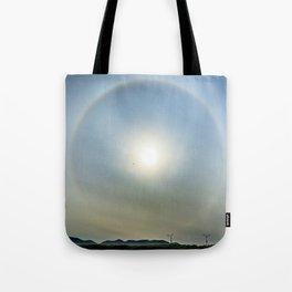 Plane in the Sun circle Tote Bag