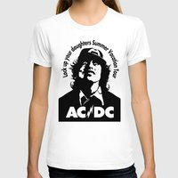 acdc T-shirts featuring Ac/Dc angus young by aceofspades81