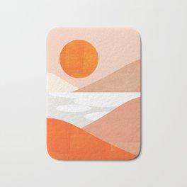Abstraction_SUNSET_LAKE_Mountains_Minimalism_001 Bath Mat
