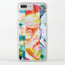 THREE TIMES ALAN WATTS Clear iPhone Case