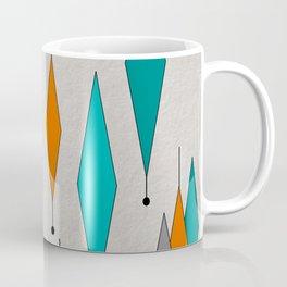 Mid-Century Modern Diamond Pattern Coffee Mug