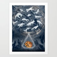 ghost Art Prints featuring GHOSTS  by Sandra Dieckmann