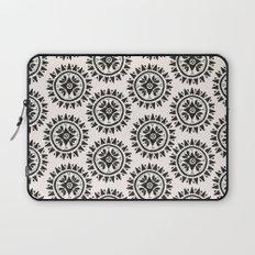 Bohemian Medallions - Dark gray and cream Pattern Laptop Sleeve