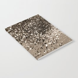 Sparkling Sepia Lady Glitter #1 #shiny #decor #art #society6 Notebook