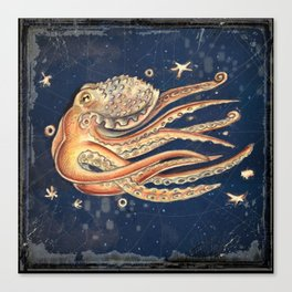 SPACEpolpo -   space octopus Canvas Print