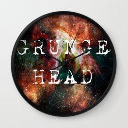 grunge head Wall Clock