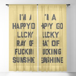 Ray Of Fucking Sunshine Funny Quote Sheer Curtain