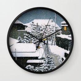 Snow At Daichi - Digital Remastered Edition Wall Clock