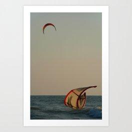 Kitesurfer Down Mandrem Art Print