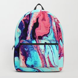 Turquoise Blue Rose Marble Background Backpack