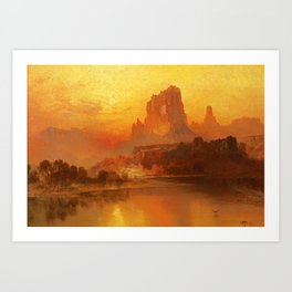 Thomas Moran - The Golden Hour, 1875 Art Print
