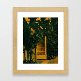 TREE YELLOW ORANGE GREEN OUTSIDE Framed Art Print