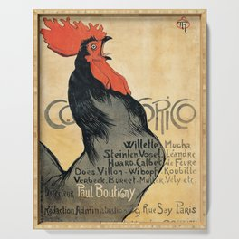 Cocorico by Theophile Steinlen, 1899 Serving Tray
