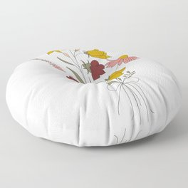 Wildflowers Bouquet Floor Pillow